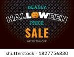 halloween sale logo with... | Shutterstock .eps vector #1827756830