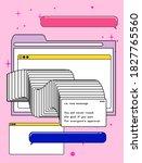 retrofuturistic vector collage...   Shutterstock .eps vector #1827765560