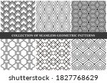 collection of vector seamless...   Shutterstock .eps vector #1827768629