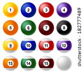 set of billiard balls. | Shutterstock . vector #182777489
