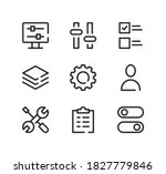 settings line icons set. modern ...