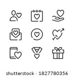valentine's day line icons set. ... | Shutterstock .eps vector #1827780356