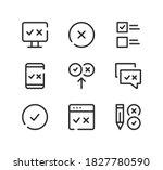 quiz line icons set. modern... | Shutterstock .eps vector #1827780590