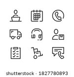 delivery service support line... | Shutterstock .eps vector #1827780893