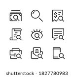 search line icons set. modern... | Shutterstock .eps vector #1827780983