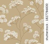 bushes of small white flowers...   Shutterstock .eps vector #1827786830