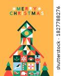 merry christmas greeting card... | Shutterstock .eps vector #1827788276