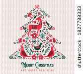 merry christmas happy new year... | Shutterstock .eps vector #1827788333