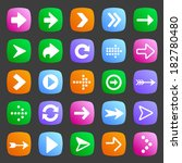 set of arrow icons in flat style | Shutterstock . vector #182780480