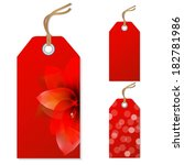 red sale tags set  vector... | Shutterstock .eps vector #182781986