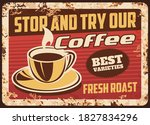Steaming Coffee Cup With Fresh...