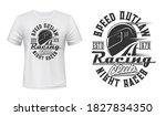 racing driver helmet t shirt... | Shutterstock .eps vector #1827834350