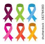 peace ribbons over white... | Shutterstock .eps vector #182784383