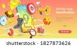 3d vector conceptual... | Shutterstock .eps vector #1827873626