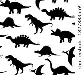 silhouettes of dinosaurs in... | Shutterstock . vector #1827883559