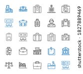 briefcase icons set. collection ... | Shutterstock .eps vector #1827889469