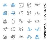 Bird Icons Set. Collection Of...