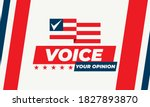 voice your opinion. 2020 united ... | Shutterstock .eps vector #1827893870