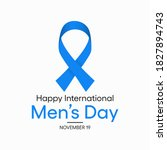 international men's day is an... | Shutterstock .eps vector #1827894743