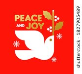 red and gold christmas card... | Shutterstock .eps vector #1827905489