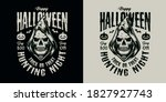 happy halloween vintage label... | Shutterstock .eps vector #1827927743
