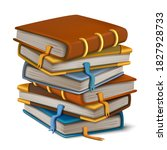 vector old book stacked on... | Shutterstock .eps vector #1827928733