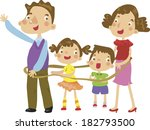 illustration of a happy family | Shutterstock . vector #182793500