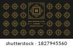vintage monogram alphabet... | Shutterstock .eps vector #1827945560