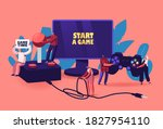 video games recreation  hobby... | Shutterstock .eps vector #1827954110