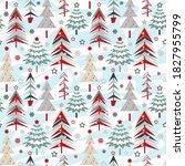 seamless christmas pattern.... | Shutterstock . vector #1827955799