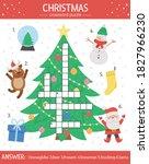 vector christmas crossword... | Shutterstock .eps vector #1827966230