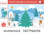 vector christmas searching game ... | Shutterstock .eps vector #1827966236