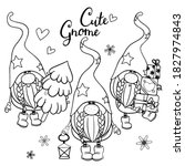 Cute Cartoon Gnomes Outlined...