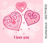 nice template for a card with... | Shutterstock . vector #182797853