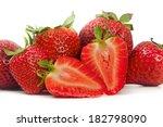 beautiful strawberries isolated ... | Shutterstock . vector #182798090