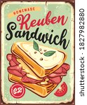 sandwich vintage sign. fast... | Shutterstock .eps vector #1827982880