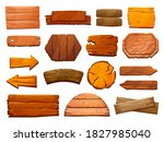 set of wooden pillars... | Shutterstock .eps vector #1827985040