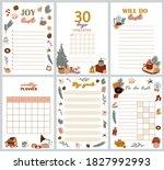christmas planner  organizer... | Shutterstock .eps vector #1827992993