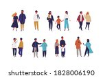 set of different people  ... | Shutterstock .eps vector #1828006190