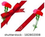 carnation ribbon mother s day | Shutterstock .eps vector #182802008