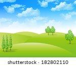 sky landscape background | Shutterstock .eps vector #182802110