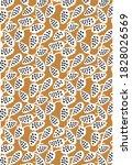 seamless pattern ethnic design. ... | Shutterstock .eps vector #1828026569