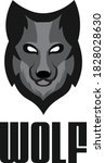 Wolf Head Logo Vector Minimal