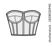 Corset Style Bustier Top...