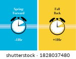 spring forward  fall back... | Shutterstock .eps vector #1828037480