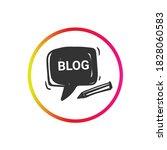 blog icon. blogging sign....