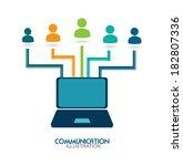 social media design over white... | Shutterstock .eps vector #182807336