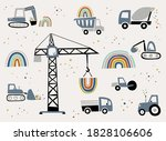 construction site. set of the... | Shutterstock .eps vector #1828106606