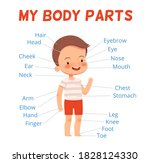 child learning poster. cheerful ... | Shutterstock .eps vector #1828124330