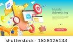 3d vector conceptual... | Shutterstock .eps vector #1828126133